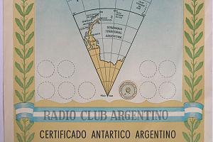 CAA (CERTIFICADO ANTARTICO ARGENTINO)