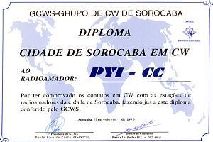 DCS  AWARD(CIDADE de SOROCABA)