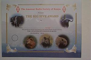 THE BIG FIVE AWARD