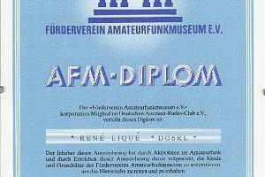 AFM  (AMATEURFUNKMUSEUM DIPLOM)