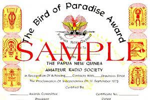 BIRD OF PARADISE AWARD