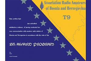 BOSNIA AND HERZEGOVINA AWARD