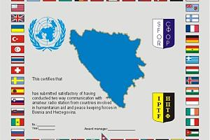 UNMBHA (UN MISION IN BOSNIA AND HERZEGOVINA AWARD)