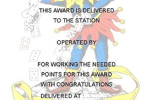 CITY OF THE PLAYING CARDS AWARD