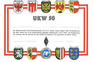 UKW50 (WORKED 50 LOCATOR-SQUARES)