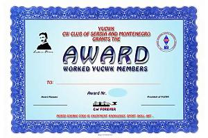 WYUCWK AWARD (WORKED YUCW CLUB MEMBERS)