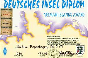 DEUTSCHES INSELSDIPLOM (GERMAN ISLANDS AWARD)