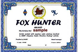 FOX HUNTER AWARD