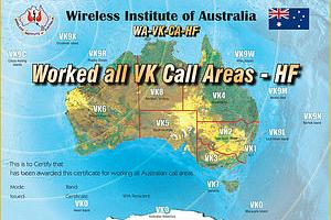 WAVKCA (WORKED ALL VK CALL AREAS AWARD)