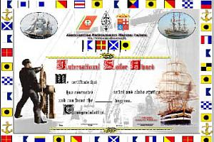 International SAILOR Award -  Il diploma dei marinai