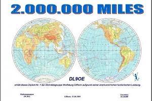 2 000 000 MILES AWARD