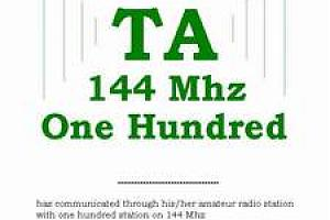 TA 144 MHZ ONE HUNDRED