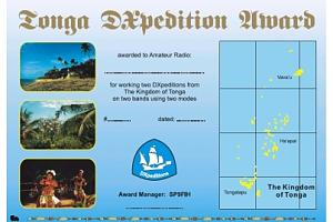 THE TONGA DXPEDITON AWARD