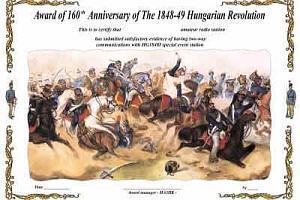 160TH ANNIVERSARY OF THE 1848-49 HUNGARIAN REVOLUTION AWARD