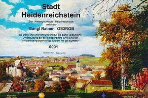 Stadt Heidenreichstein Diplom