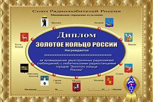 """Диплом """"Золотое кольцо России"""""""