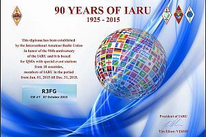 90 YEARS IARU