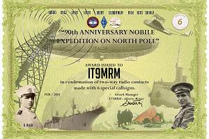 90th Anniversary Nobile expedition on North Pole - Airship ITALY