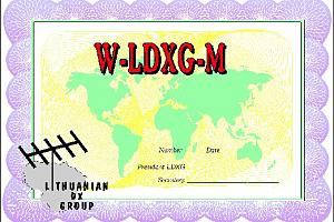 W-LDXG-M (WORKED LITHUANIAN DX GROUP MEMBERS AWARD)