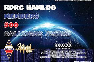 RDRC HAMLOG 300 CALLSIGNS