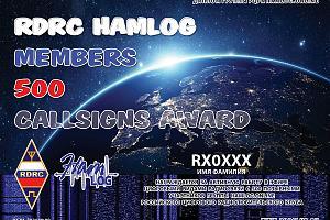 RDRC HAMLOG 500 CALLSIGNS