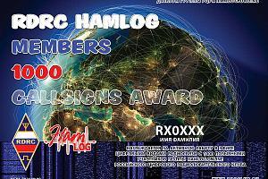 RDRC HAMLOG 1000 CALLSIGNS
