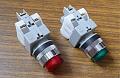 Кнопки с подсветкой CA25-PE11N, зелёные, красные