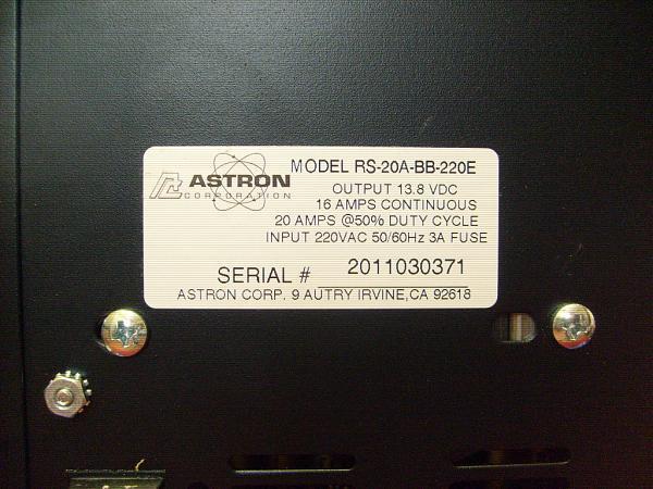 """Продам Блок питания """"Astron RS-20A-BB"""""""