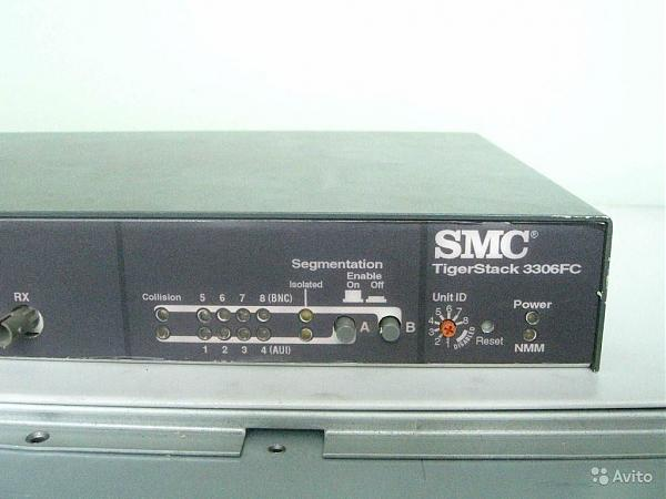 Продам Multi-Segment Stackable Hub SMC TigerStack 3306FC