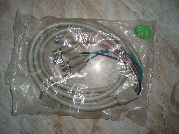 Продам Кабель-переходник VGA (D-sub 15) в 5 BNC R. G. B.