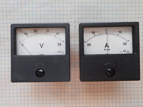 Продам Вольтметры 50В и амперметры 20А-0-20А