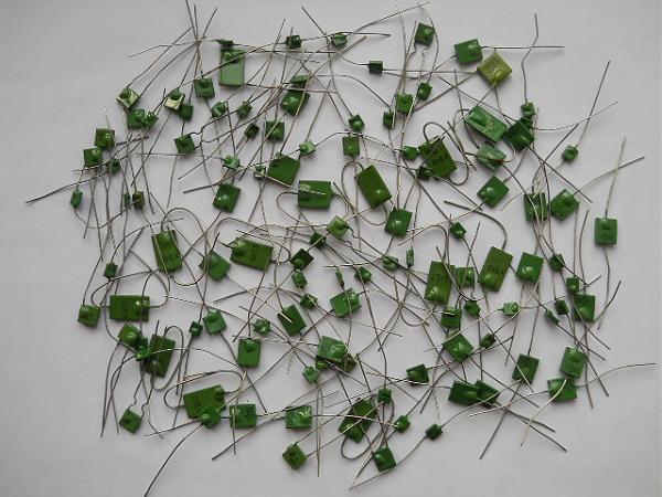 Продам Конденсаторы КМ зелёные новые, 160 штук, разные