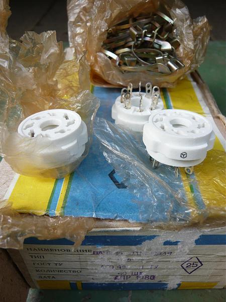 Продам Панельки для радиоламп ПЛ8-2К, ПЛ8-2П