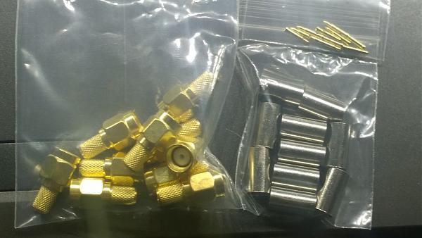 Продам Разъем SMA male обжимной на RG-58