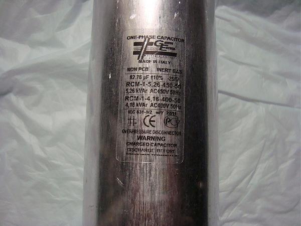 Продам партию пусковых конденсаторов 82.76 mf -450 v