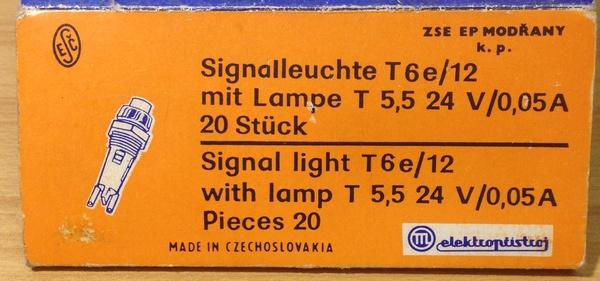 Продам Сигнальный огонь T6e/12 с лампочкой Т 5.5 24В