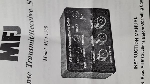 Продам автоматический переключатель RX/TX MFJ- 1708