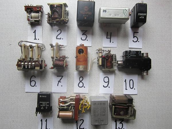 Продам ВЧ реле, переключатели, кварцы, С и мелочёвка
