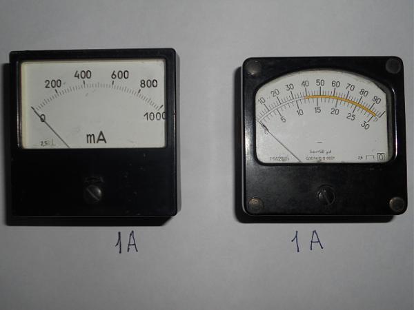 Продам приборы 80*80мм 500мА,1А,1,5А,2А и 1000В,3000В