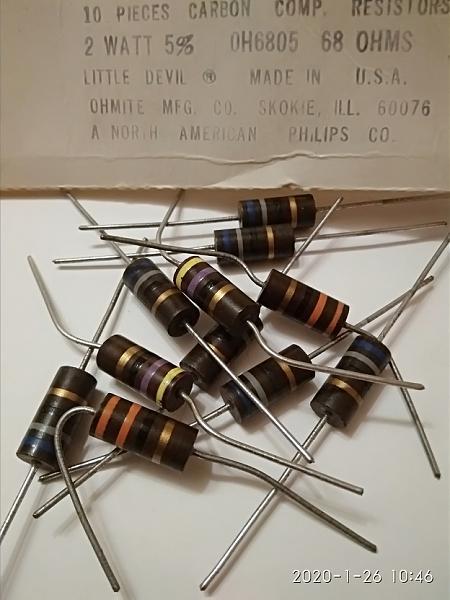 Продам угольные резисторы