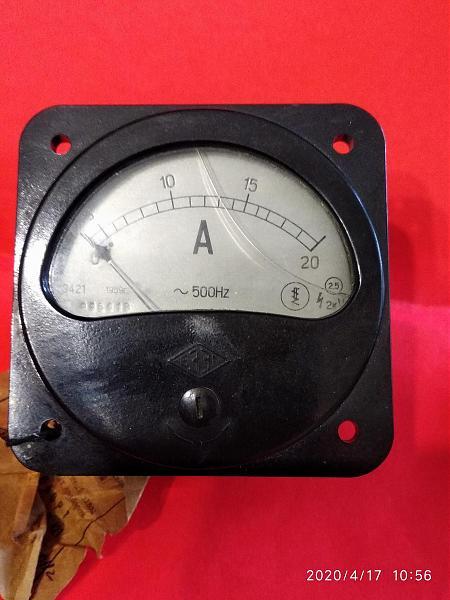 Продам Амперметр Э421 20А. 500 Гц