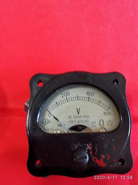 Продам Вольтметр постоянного тока М5-2 600v