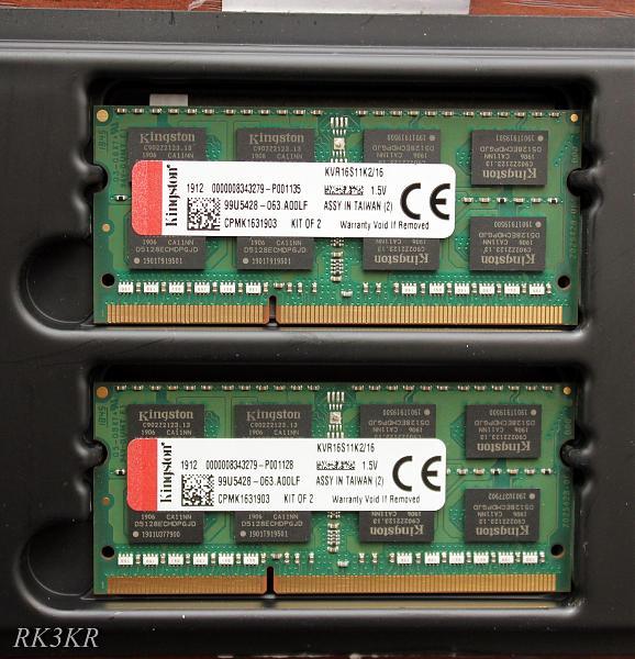 Продам SO-DIMM DDR3 Kingston ValueRAM 16 GB 1600 MHz