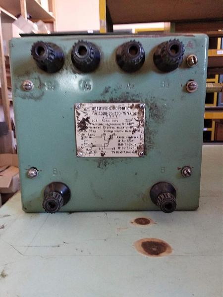 Продам Автотрансформатор однофазный АОСН-20-220