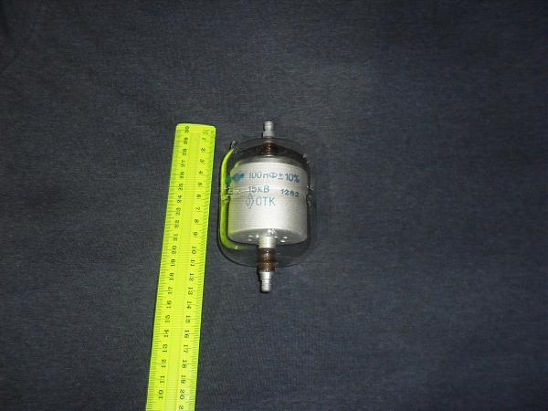Продам Вакуумный конденсатор постоянный 15 КВ