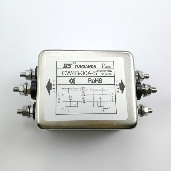 Продам Трехфазный фильтр электромагнитных помех CW4B 30A
