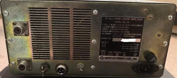 Продам КВ усилитель мощности TOKYO HI-Power HL-1K