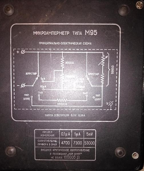 Продам Микроамперметр М95