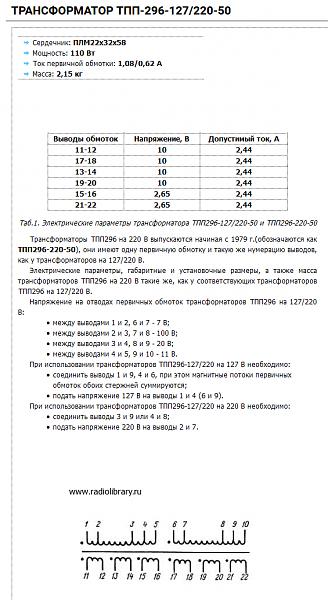 Продам Трансформатор ТПП296-127/220-50