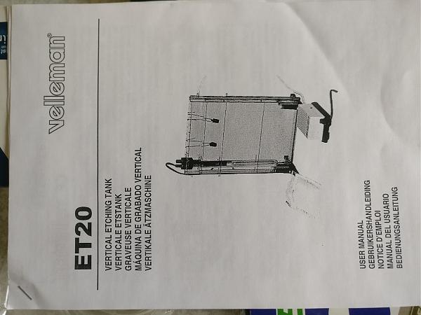 Продам Velleman ET20 для травления печатных плат